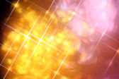 Defocused abstract gold and silver light flare and bokeh, christ — Stock Photo