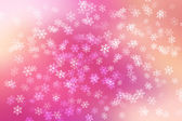 Colorful abstract background with snow flakes falling. — Stock Photo