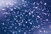 Bunte abstrakte Hintergrund mit Schneeflocken fallen. — Stockfoto