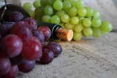 Wine and fruit — Stock Photo