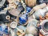 Antiquities at the flee-market  — Stock Photo