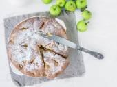 Autumn green apple cake — Stock Photo