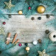 Christmas (New Year) decoration background: fur-tree branches, g — Stock Photo #60388737