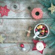 Christmas (New Year) decoration background with a copy space: a — Stock Photo #60388917
