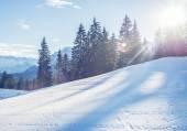 Mountain skiing slope in Garmisch-Partenkirchen resort  in Bavar — Stock Photo