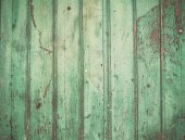 Old rustic painted cracky green turqouise wooden texture — Stock Photo
