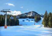 GARMISCH-PARTENKIRCHEN, JANUARY 7: Mountain skiing slopes at Hau — Stock Photo