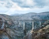 The highest railway bridge in Europe near Kolasin  — Stock Photo
