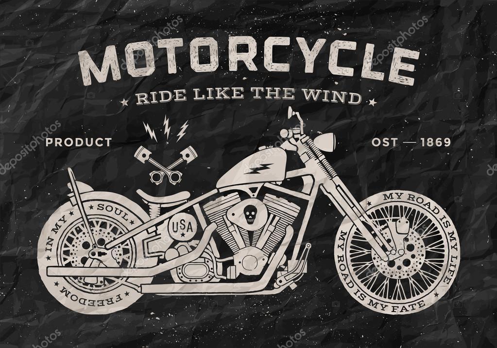 estilo de old school de moto de corrida vintage vetor de stock sonyakamoz 88140676. Black Bedroom Furniture Sets. Home Design Ideas