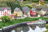 Lego old German Town Town with ship — Foto Stock