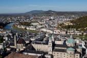 Salzburg Austria inner city with churches — Stock Photo
