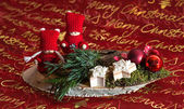 Christmas decoration Weihnachtsgesteck — Foto de Stock