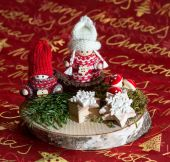 Beautiful christmas decoration winter Childs — Photo