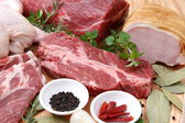 Various Fresh Meats — Stock Photo
