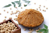 Soybean paste MISO and soybeans — Stock Photo