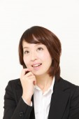 Japanese businesswoman dreaming at her future — Stock Photo