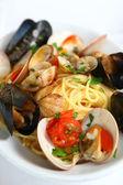 Spaghetti alla pescatora — Stock Photo