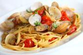 Spaghetti alle vongole — Stock Photo