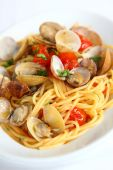 Spaghetti alle vongole — Stock Photo