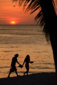 Sunset of tropic island — Stock Photo