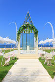 Wedding chapel by the beach — Stock Photo