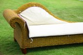 Sofa on a lawn — Stockfoto