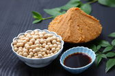 Japaneese traditional soybean processed foods — Stock Photo