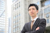 Japanese businessman in the town — Stock Photo