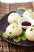Steamed meat dumpling — Stock Photo