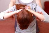 Woman Getting Thai Therapy — Stok fotoğraf