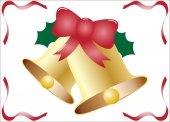 Golden Christmas Bells — Stock Vector