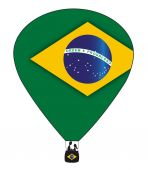 Brazil Hot Air Balloon — Wektor stockowy