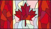 Canadian Stained Glass Window — Vector de stock