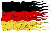 Wavy German Flag Grunged — Stock Vector