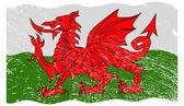 Welsh Flag Grunged — Stock Vector