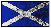 Scotland Flag Grunged — Stock Vector
