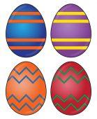 Uovo di Pasqua disegni — Vettoriale Stock