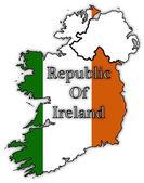 Republic Of Ireland Flags In Maps — Stock Vector