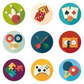 Game and entertainment icons — Stock Vector