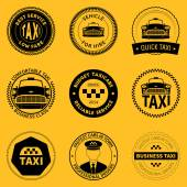 Set of taxi badges — Stock Vector