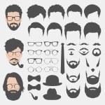 Stili differenti hipster — Vettoriale Stock  #78289370