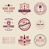 Set of wine shop labels, badges — Stock Vector