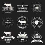 Set of premium beef labels — Stock Vector #78291026