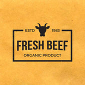 Premium beef label with grunge texture — Stock Vector
