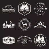 Vector set of hunting club labels — Stock Vector