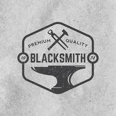 Blacksmith emblem — Stock Vector