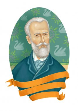Pyotr Ilyich Tchaikovsky  illustration  digital painting