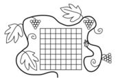 Coloring book page black white school timetable — Stock Vector