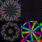 Four bright rainbow emission pattern — Stock Photo