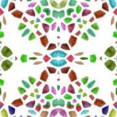 Abstract tileable decorative kaleidoscope sidebar — Stock Photo